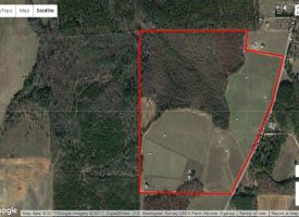 Fenced pastures, horse barn, and great hunting near Hawkinsville, GA.
